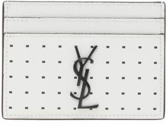 Saint Laurent Monogram Leather Card Case