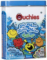 Safety First Ouchies Bandages Mr. Men and Little Miss 4 Boyz, 20 ct