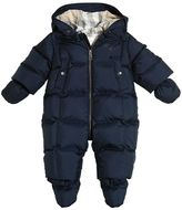 Burberry Nylon Hooded Down Baby Bunting & Mittens