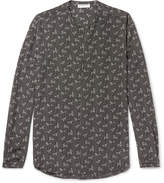 Saint Laurent - Mandarin-collar Printed Silk Shirt