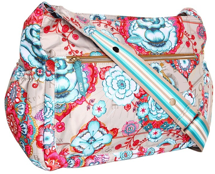 Oilily Fantasy Floral Shoulder Baby Bag (Biscuit) - Bags and Luggage