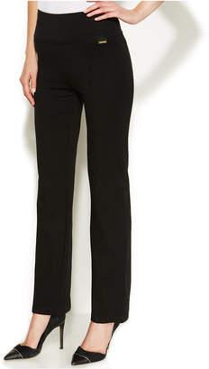 Calvin Klein High-Rise Straight-Leg Compression Pants