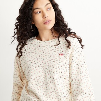 Levi's Cotton Overhead Sweatshirt in Floral Print with Crew-Neck