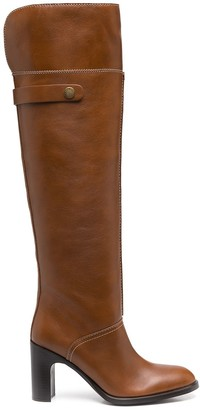 See by Chloe Round-Toe Knee-High Boots