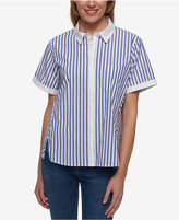 Tommy Hilfiger Striped Short-Sleeve Shirt, Only at Macy's