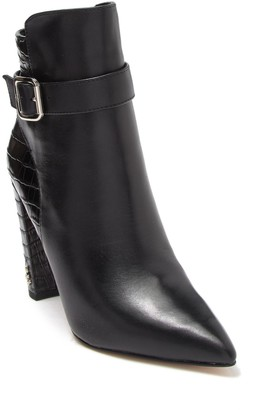 Sam Edelman Rita Leather Embossed Croc Ankle Bootie