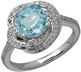 Lord & Taylor Sky Blue Topaz and Diamond 14K White Gold RIng