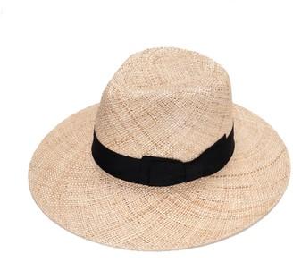 Justine Hats Wide Straw Fedora Hat