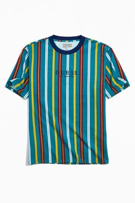GUESS Teal Party Stripe Tee