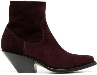 Buttero Cone-Heel Ankle Boots