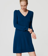 LOFT Tall V-Neck Swing Sweater Dress