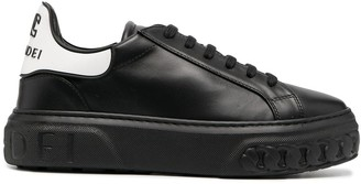 Casadei Two-Tone Lace-Up Trainers