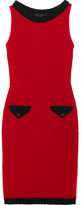 Moschino Wool-blend Bouclé Mini Dress - Red