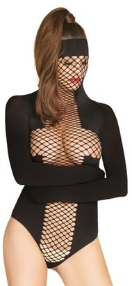 Leg Avenue Opaque and Net Masked Teddy