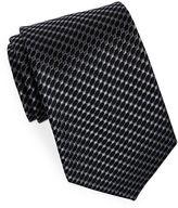 Black Brown 1826 Classic Geometric Print Tie