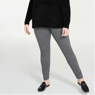 Joe Fresh Women+ Texture Legging, Black (Size 3X)