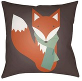 Surya Cozy Fox Throw Pillow