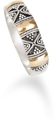 Aquila Jewellery Mixed Metal Boho Ring Gilded With 18k Gold - Sydney
