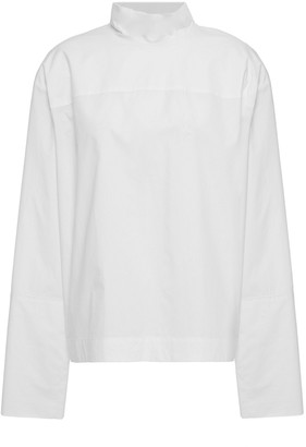 By Malene Birger Tie-back Cotton-poplin Blouse