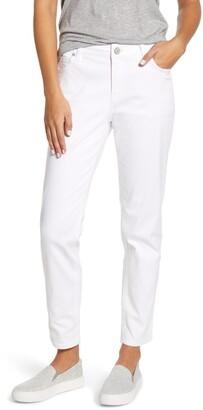 Tommy Bahama Ella Twill Slim Boyfriend White Jeans