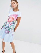 Ted Baker Bowkay Skater Dress in Focus Bouquet Print
