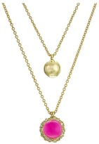 Alexis Bittar Crystal Encrusted Detachable Sphere Pendant Set Necklace