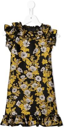 Dolce & Gabbana Kids Sleeveless Floral Ruffle Dress