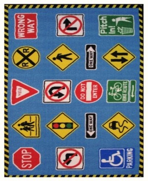 "Fun Rugs Fun Time Traffic Signs 19"" x 29"" Area Rug Bedding"
