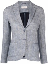 Thumbnail for your product : Circolo 1901 Chevron-Knit Single-Breasted Blazer