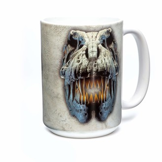 The Mountain Unisex-Adult's Silver Rex Skull Coffee Mug