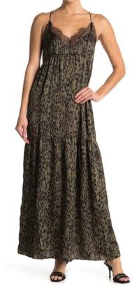 Love Stitch Leopard Print Maxi Dress