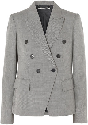 Stella McCartney Double-breasted Houndstooth Wool-tweed Blazer