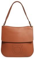 Salvatore Ferragamo Leather Hobo Bag - Metallic