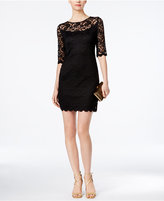 Connected Illusion Lace Sheath Dress