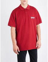 Balenciaga Logo-embroidered Cotton-piqué Polo-shirt