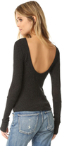 Enza Costa Scoop Back Pullover