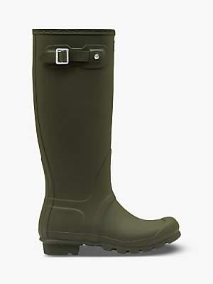Hunter Women's Original Waterproof Tall Wellington Boots, Green