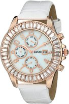 August Steiner Women's AS8037RGW Analog Display Swiss Quartz White Watch