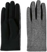 Joe Fresh Women's Pattern Knit Gloves, Grey (Size O/S)