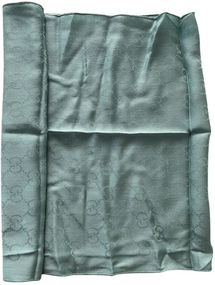 Gucci Turquoise Wool Scarves