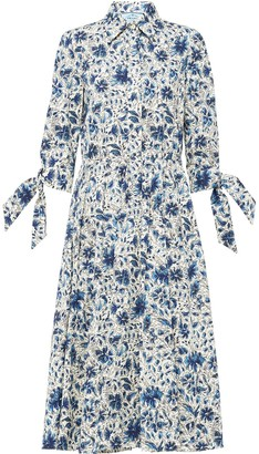 Prada Floral Print Shirt Dress