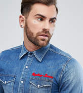 Replay Embroidered Denim Shirt