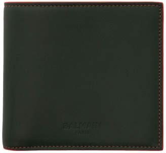 Balmain Green Leather Bifold Wallet