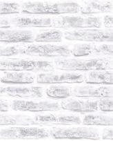 Graham & Brown White Realistic Brick Wallpaper