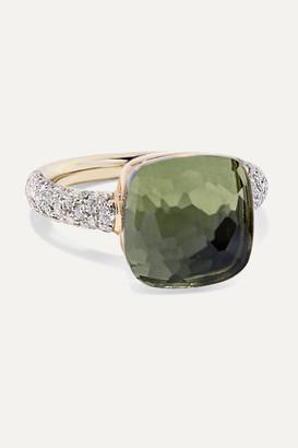 Pomellato Nudo 18-karat Rose And White Gold, Prasiolite And Diamond Ring - Rose gold