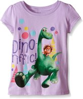 Disney Little Girls' The Good Dinosaur Dino-Riffic Puff Sleeve Tee