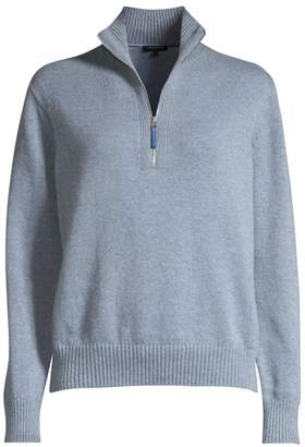 Lafayette 148 New York Stand Collar Cashmere Sweater