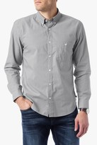 7 For All Mankind Long Sleeve Oxford In Grey