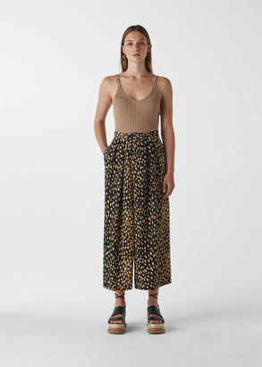 Animal Print Wrap Trouser