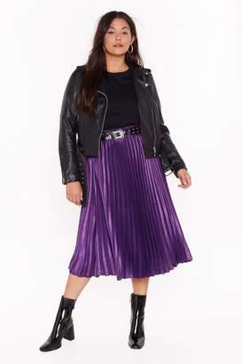 Nasty Gal Womens Plus Pleated Midi Skirt - Green - 16